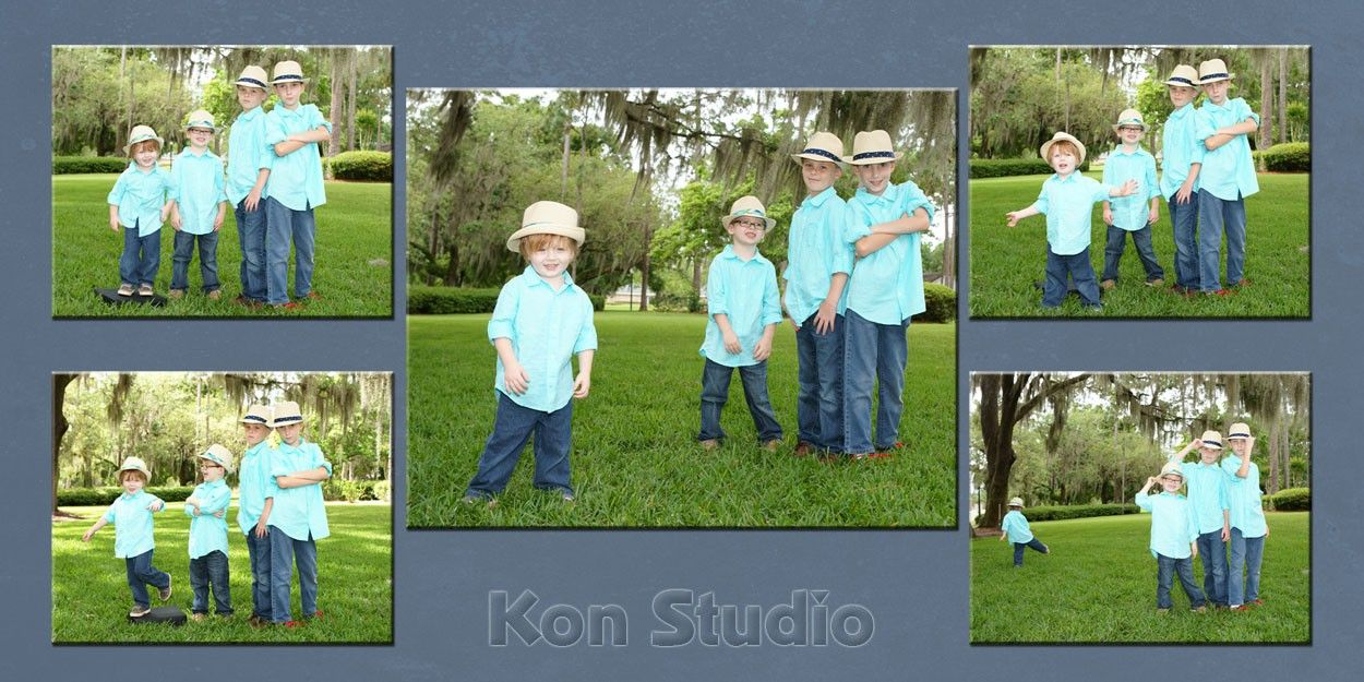 Custom multiple image wall portraits. From 10x20 to 40x60 composites allow you to have the best of all worlds. Large images along with multiple portraits.